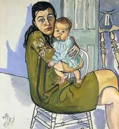 Alice Neel - Nancy And Olivia [1967] -probably my favorite painting of all paintings