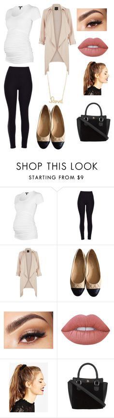"""""""Maternity first step closet"""" by sarah4ever123 ❤ liked on Polyvore featuring Chanel, Lancôme, Lime Crime, ASOS and Sydney Evan"""