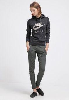 Nike Sportswear - GYM VINTAGE - Hoodie - black/sail