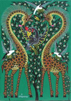 Aboriginal Painting, Madhubani Painting, Surrealism Drawing, Eyes Artwork, African Paintings, Madhubani Art, Indian Folk Art, Africa Art, Learn Art