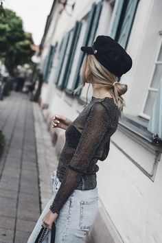 Baker Boy Hat Trend 2017 Fall Autumn Outfit Ideas | Want Get Repeat Fashion Blog, Street Style