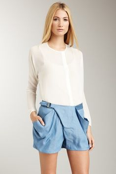 Silk Tunic with Grosgrain Trimmed Front by Vivienne Tam on @HauteLook