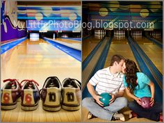 adorable bowling alley engagements