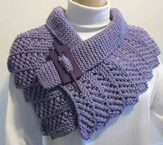 Very Elegant, Soft and Stylish Lavender Neck Warmer Cowl with a PinKnit by Design is this weeks Featured ArtFire Artist here at On Fire for Handmade. You will find beautiful Knit and Crochet fashions and accessories in this shop! Crochet Collar, Knit Or Crochet, Crochet Scarves, Crochet Shawl, Crochet Clothes, Vintage Knitting, Hand Knitting, Knitting Patterns, Ropa Upcycling