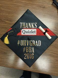Graduation Cap BBA Quizlet UHV University of Houston Victoria 2016 Humor