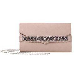 Clutch Bag With Rheinstone In Pale Pink - US$19.95 -YOINS