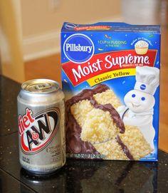 Cake mix plus soda recipe