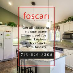 Your kitchen needs clean and beautiful spaces come to Foscari we do it for you Kitchen Cabinets In Bathroom, Kitchen Cabinet Design, Extra Storage Space, Storage Spaces, Contemporary Style Bathrooms, New Home Construction, Modern Cabinets, Cabinet Styles, Quartz Countertops