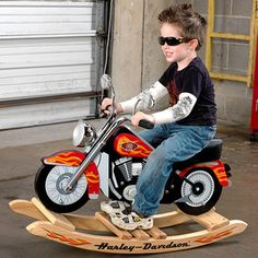Harley-Davidson Rocking Motorcycle - I'd repaint this baby to look like a V-star!