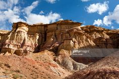 The cliffs of Tsagaan Suvarga, Gobi Desert : ストックフォト
