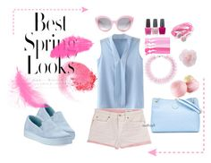 """""""spring look"""" by audhayfi on Polyvore featuring Closed, Prada, Crap, Tory Burch, Mary Katrantzou, OPI, NARS Cosmetics, H&M and Eos"""