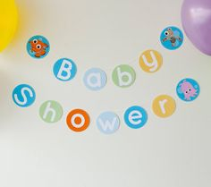 Finding Nemo Printable Banner. Set the scene for your Nemo-themed baby shower…
