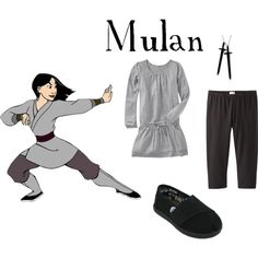 Mulan Warrior Inspired Casual Girl Outfit