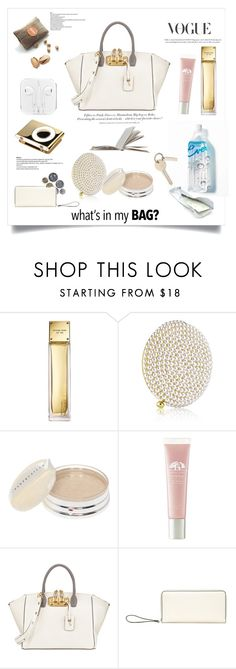 """""""What's In My Bag"""" by rever-de-paris ❤ liked on Polyvore featuring Michael Kors, Estée Lauder, Chantecaille, Origins, VBH, H&M, Valextra, contest, WhatsInMyBag and polyvoreeditorial"""