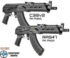 Century Arms C39v2 and RAS 47 AK pistols