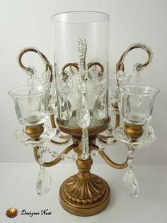 Vintage Crystal Candle Holders