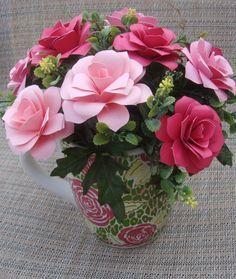 Paper Flower Beautiful Arrangement  in Large by SweetPeasFlorals, $25.00