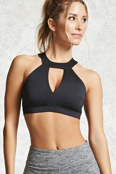 Medium-Impact Halter Sports Bra | Forever 21 - Clothes High Neck Sportsbra: Workout Clothes for Women | Sports Bra | Yoga Pants | Motivation is here! | Fitness Apparel | Express Workout Clothes for Women | #fitness #express #yogaclothing #exercise #yoga. #yogaapparel #fitness #diet #fit #leggings #abs #workout #weight | SHOP @ FitnessApparelExpress.com
