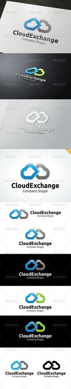 Cloud Exchange Logo  EPS Template • Download ➝ https://graphicriver.net/item/cloud-exchange-logo/4698709?ref=pxcr