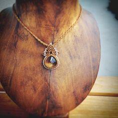 « Citrine macrame pendant. オンラインショップにて新作ペンダント9点掲載しました。詳細はインスタトップのHPにて。 #jewelry…