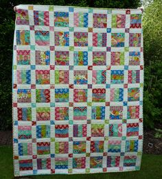 PDF Quilt Pattern for Jelly Rolls Baby Crib Lap par MackandMabel