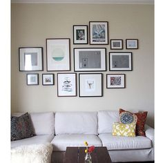 Simple gallery wall