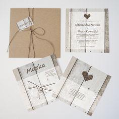 Zaproszenia ślubne Biały szyk by Cartolina www.cartolina.com.pl wedding invitations