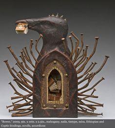 Daniel Essig, Bower   #sculpture #bird #book