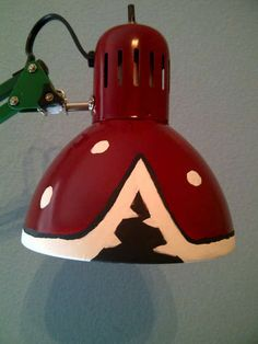 Super Mario Piranha Plant Lamp ~ http://www.instructables.com/id/Super-Mario-Piranha-Plant-Lamp/