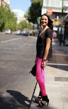 Cute pink jeans by oalfaiatelisboeta.blogspot.pt
