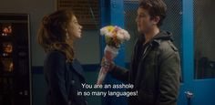 """― Two Night Stand (2014) """"You are an asshole in so many languages!"""""""