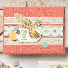 Create projects with mosaic patterns using the Mosaic Embossing Folder. (Stampin' Up! Embossed Business Cards, Embossed Cards, Mood Card, Silhouette Curio, Mosaic Madness, Bird Cards, Scrapbooking, Get Well Cards, Mosaic Patterns