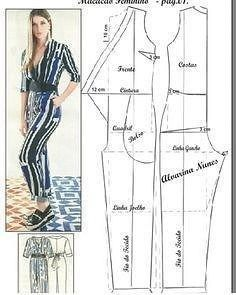 Good afternoon, our sentence e. Let's start with the overalls, the basic body of the modeling work on the body itself. For other jumpsuit models, you can click: Please comment to support and clicImage may contain: 1 person Sewing Pants, Sewing Clothes, Diy Clothes, Jumpsuit Pattern, Pants Pattern, Dress Sewing Patterns, Clothing Patterns, Fashion Sewing, Diy Fashion