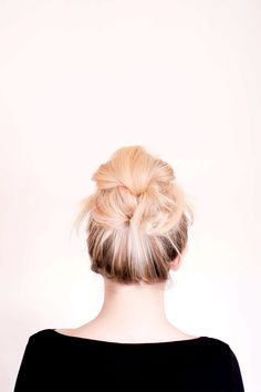 A messy bun with a twist//