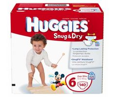 Huggies Snug & Dry Diapers, Size 6, 140-Count - http://www.intomars.com/huggies-snug-dry-diapers-size-6.html
