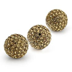 10PCS Crystal stones 10mm Loose Spacer Bead Pave Disco Ball Rhinestone Beads Fit DIY Bracelets Earrings Necklaces Rings / light colorado. $11.49, via Etsy.