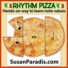 Rhythm Pizza | Free Piano Teaching Resources | Hands-on learning |