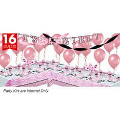 Pink Safari Baby Shower Deluxe Party Kit - Party America