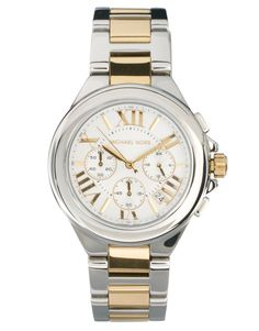 Michael Kors Silver & Gold Chronograph Watch