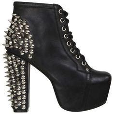 Jeffrey Campbell Women's Lita Spike Shoes - Black