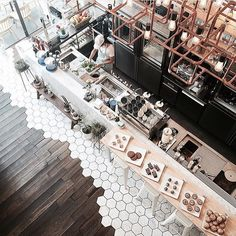 Another one from this pretty space check out for more :) by thetrottergirl Cafe Bar, Cafe Shop, Cafe Restaurant, Restaurant Design, Coffee Shop Bar, Coffee Shop Design, Coffee Shops, Lounge Design, Cafe Design