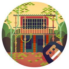 Four quick treehouses for the Brussels Airlines magazine b.spirit. It was hard with these to escape the influence of the fantasticPatrick H...