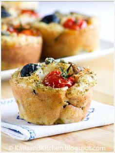 Savory Muffins, Mini Muffins, Mini Cake Sale, Tapas, Salad Cake, Pizza Style, Brunch, Appetisers, Savoury Cake