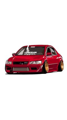 Derby Cars, Mitsubishi Lancer Evolution, Car Illustration, Car Posters, Car Drawings, Cute Cars, Japanese Cars, Modified Cars, Jdm Cars