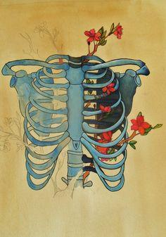 """Anatomia + Naturaleza"" by BlaueVogel on deviantart"