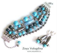 Zoya Vologdina – новый тренд сезона многорядные браслеты из камней