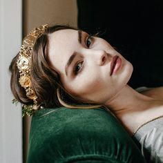 Photo by Meghan Kay Sadler | Gorgeous gold tiara by Erica Elizabeth Designs