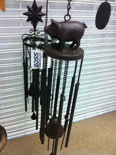 Pig wind chime @ ROSS, $9.99 Wind Charm, Sculpture Art, Sculptures, Pig Stuff, Mini Pigs, Cute Piggies, Pig Party, Outdoor Crafts, This Little Piggy