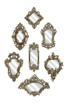 Loletta Victorian Mirror - Set of 7 by Imax on @HauteLook   I've got this collection on my wall. Need to rearrange them so that they look more as they are pictured here.