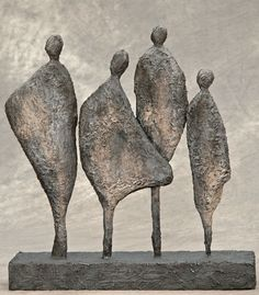 4 figuren in paverpol/powertex